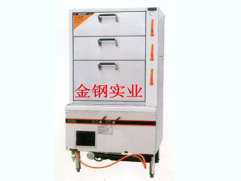 三门海鲜蒸柜燃气型