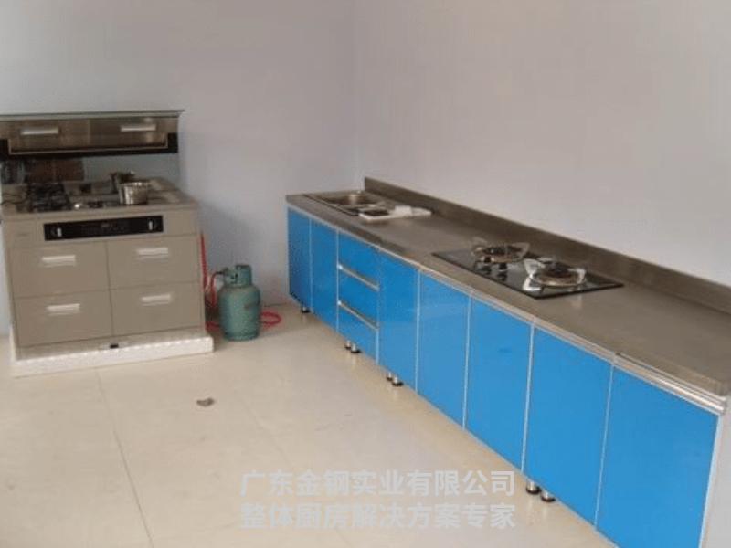 不锈钢家庭zheng体厨柜