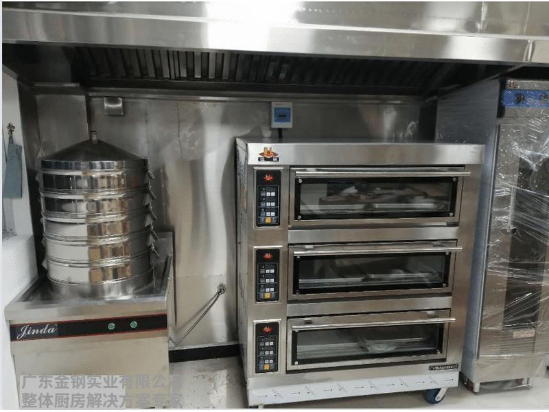 三层电焗炉连蒸包柜